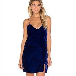 Line + Dot velvet dress w/ tassels